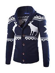 economico -MEN - Maglioni - Informale A camicia - Maniche lunghe Cotone / Misto cotone