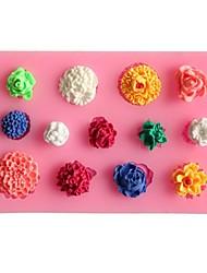 cheap -Many Flowers Fondant Cake Cake Chocolate Silicone Molds,Decoration Tools Bakeware