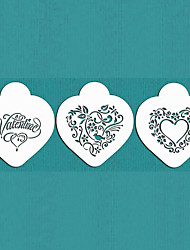 Valentine's Gift Be My Heart Cookie Stencil Set for Cake Decorating,ST-670