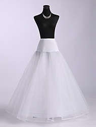 cheap -Wedding Special Occasion Slips Polyester Spandex Tulle Netting Floor-length A-Line Slip With Lace-trimmed bottom