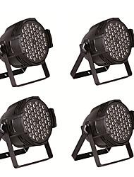 Недорогие -4 шт led54 3w, 8 каналов 54 лампы свет шарика RGBW DMX512 контроль напряжения широкий