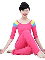 Ioga Conjuntos de Roupas Materiais Leves Com Stretch Moda Esportiva Mulheres Ioga Pilates Exercício e Atividade Física Esportes