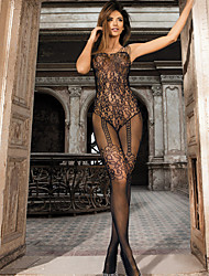 cheap -Women's Seductive Shoulder Strap Suspender Lace Bodystocking Nightwear