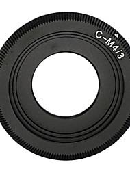 schwarz C-Mount Objektiv auf micro 4/3 Adapter E-P1 E-P2 E-P3 G1 GF1 GH1 g2 GF2 gh2 g3 GF3 c-m4 / 3