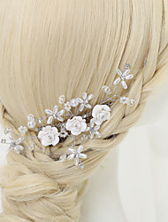 cheap -Crystal Imitation Pearl Rhinestone Alloy Hair Combs 1 Wedding Special Occasion Headpiece
