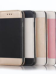 cheap -Case For Apple iPhone 6 / iPhone 6 Plus Card Holder / Wallet / with Stand Full Body Cases Solid Colored Hard PU Leather for iPhone 7 Plus