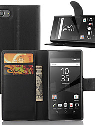 cheap -Case For Sony Xperia Z5 / Sony Xperia Z3 / Sony Xperia Z3 Compact Xperia Z5 / Xperia Z3 / Sony Case Card Holder / Wallet / with Stand