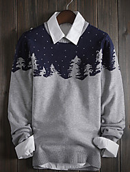 cheap -Men's Print Pullover , Knitwear Long Sleeve