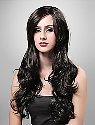 cheap -Synthetic Wig Wavy Synthetic Hair Wig Women's Long Capless Black