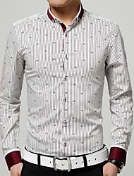 Homens Tamanhos Grandes Camisa Social Estampado, Listrado