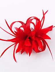 cheap -Flax Feather Fascinators Headpiece Elegant Classical Feminine Style