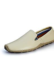 Недорогие -Черный Бежевый Желтый Коричневый Синий-Для мужчин-Для офиса Повседневный-Наппа Leather-На плоской подошве-Удобная обувь-Мокасины и Свитер