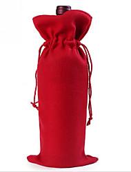 Недорогие -Рождество важно Санта-Клауса рождественские красное вино мешки бутылка подарочные пакеты