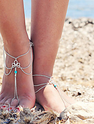 ženske retro višeslojne rese lanac jednu kratka čarapa
