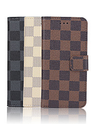 cheap -For iPhone 7 Plus 4.7 Inch Grid Pattern High Quality Luxury PU Wallet Leather Case for iPhone 6s 6 Plus