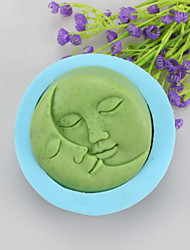 cheap -Lovers Kiss Shaped Soap Molds Mooncake Mould Fondant Cake Chocolate Silicone Mold, Decoration Tools Bakeware