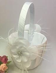 """Недорогие -цветочная корзина атласная 9 """"(23 см) стразы лепестки 1 свадебная церемония"""