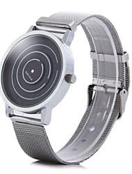 Homens Relógio de Pulso Único Criativo relógio Quartzo Aço Inoxidável Banda Prata