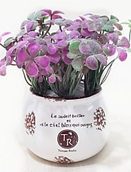 Plastic Plants Artificial Flowers with Vase