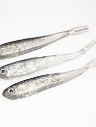 """10 pc Esche morbide Esca Esche morbide Nero Trasparente g/Oncia mm/2-3/4"""" pollice,SiliconePesca a mulinello Pesca di acqua dolce Pesca di"""