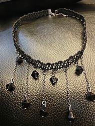 Dame Dråbe Form Sød Stil Europæisk Kort halskæde Syntetiske ædelstene Kort halskæde Fest Kostume smykker