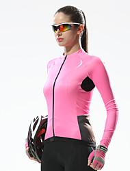 お買い得  -SANTIC 女性用 長袖 サイクリングジャージー バイク ジャージー, 速乾性, 抗紫外線, 高通気性