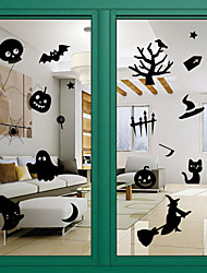 Door Stickers Door Decals Style Halloween Glass Window Decoration PVC Door Stickers