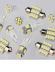 cheap -SO.K 11pcs Car Light Bulbs 1W W 50lm lm 11 Interior Lights