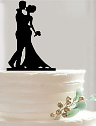 Bride Groom Silhouette Wedding Cake Topper Personalize Cake Accessory Fondant Decorations Tools Acrylic Couple Topper