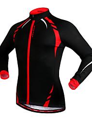 preiswerte -WOSAWE Fahrradjacke Unisex Fahhrad Trikot/Radtrikot Jacke Oberteile Winter Vlies Fahrradbekleidung warm halten Windundurchlässig Fleece