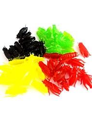 economico -50 pc Esche morbide Esca Esche morbide Colori assortiti g/Oncia mm pollice,Silicone Pesca di acqua dolce Pesca dilettantistica