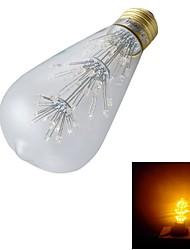 E26/E27 LED Globe Bulbs ST64 47 Dip LED 130 lm Warm White 3000 K Decorative AC 220-240 V