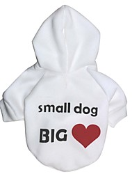 cheap -Cat Dog Hoodie Dog Clothes Fashion Letter & Number White Costume For Pets
