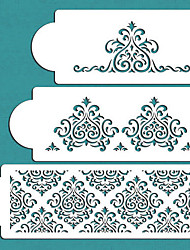 cheap -Elaine's Cake Stencil Set , Spray Paint Stencils, Cake Decorating Stencil, Cake Lace Side Plastic Stencil Set,ST-276
