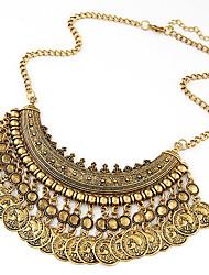 baratos -Mulheres Colares Declaração  -  Fashion Europeu Dourado Preto Prata Colar Para Ocasião Especial Aniversário Presente