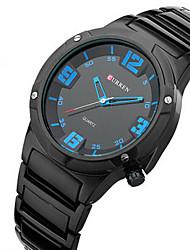 baratos -CURREN Homens Relógio de Pulso Impermeável / Relógio Esportivo Aço Inoxidável Banda Amuleto Preta / Sony S626 / Dois anos