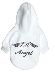 cheap -Cat Dog Hoodie Dog Clothes Fashion Angel & Devil White Red Costume For Pets