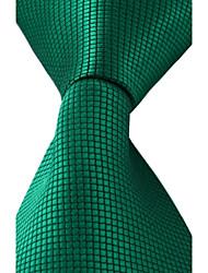 cheap -New Classic Dark Green Leisure Jacquard Silk Men Necktie Tie
