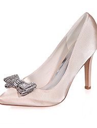 cheap -Women's Shoes Satin Spring Summer Stiletto Heel for Wedding Party & Evening Purple Blue Pink Champagne Ivory