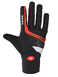 cheap -SANTIC Sports Gloves Bike Gloves / Cycling Gloves Keep Warm Reflective Wearproof Anti-skidding Easy-off pull tab Shockproof Full-finger