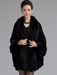 Long Sleeves Faux Fur Imitation Cashmere Wedding Wedding  Wraps Fur Coats Hoods & Ponchos With Feathers / fur Capes