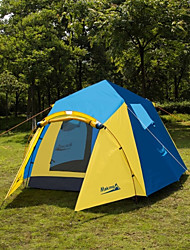 Makino 3-4 personnes Tente Triple Tente de camping Une pièce Tente automatique Bonne ventilation Pare-vent Etanche Antimite Respirabilité