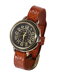 cheap -Watch Women Printing Genuine Leather Band  Quartz Analog Wrist Watch (Assorted Colors)