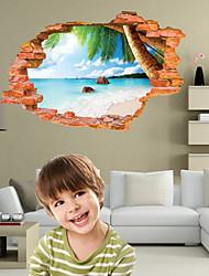 billige -Landskab Romantik Mode Former Jul 3D Tegneserie Botanisk Vægklistermærker 3D mur klistermærker Dekorative Mur Klistermærker, Vinyl Hjem