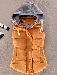 cheap -Women's Fashion All Match Hooded Down Vest More Colors