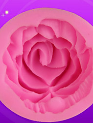 cheap -1 PC 1 Hole Rose Flower Design Silicone DIY Cake Mould Bakeware