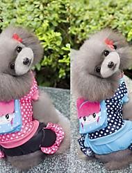 levne -Pes Kabáty Kombinéza Oblečení pro psy Puntíky Růžová Modrá Bavlna Kostým Pro domácí mazlíčky Pánské Dámské Běžné/Denní
