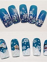 billige -Smuk - Finger - 3D Negle Stickers / Negle Smykker - 6*5*1 - 12pcs