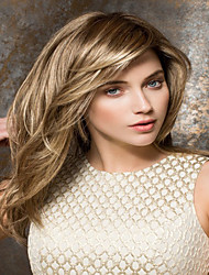 cheap -Synthetic Wig Straight With Bangs With Bangs Blonde Women's Capless Synthetic Hair