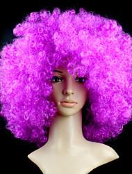abordables -Pelucas sintéticas / Pelucas de Broma Ondulado / Afro Pelo sintético Peluca Mujer Corta Sin Tapa
